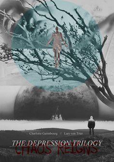 ANTICHRIST // MELANCHOLIA // NYMPHOMANIACMy poster for Lars von Trier's trilogy of masterpieces.