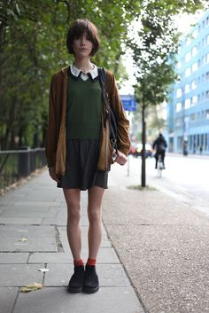 Because I like her clunky grandma shoes. London Fashion by Paul