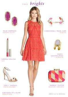 Nice Coral Lace Dress