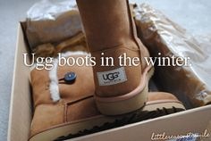 Love the feeling of putting on UGGs for the first time in the winter.