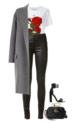 """""""Red Eye"""" by hernamewaslily ❤ liked on Polyvore featuring Gucci, David Yurman, Off-White, Yves Saint Laurent, Charlotte Russe and CÉLINE"""