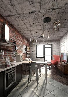 Take a look at this amazing home interior design trends and how they fit perfectly into your vintage industrial living room decor! | https://vintageindustrialstyle.com/ #vintageindustrial #lightingdesign #homeinteriordesigntrends #vintageindustrialdecor #vintagedecor Vintage Industrial Decor, Estilo Industrial, Industrial House, Casa Loft, Men Apartment, Loft Design, Fashion Room, Lofts, Home Interior Design