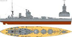 future design battleships | battleship designed to cleverly circumvent the washington treaty rules ...