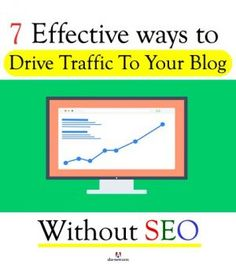 How do you increase traffic to your blog? By implementing SEO tips and techniques. That's good, but what if you're not SEO savvy? Don't fret, you can still drive traffic to your blog. I've done so and I'm sure you too can. Read today's post that educates you on the non-SEO ways to get people visit your blog. Don't miss this one, more on the blog. :)