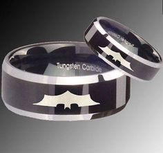 BATMAN Tungsten His OR Hers Wedding Engagement by RingsByMitchell