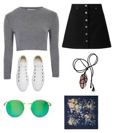 """""""🐼🍪"""" by celeste-05 on Polyvore featuring Glamorous, Miss Selfridge, Converse, Wildfox and Aspinal of London"""