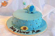Superb Pastel De Baby Shower Con Elefante!