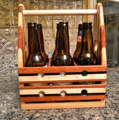 Wooden Beer 6 Pack   The PaceMaker  Beer Carrier by tauntongreen, $119.00