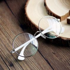 Retro Unisex Round Metal Frame Glasses Clear Lens Glasses Eyeglass Eyewear