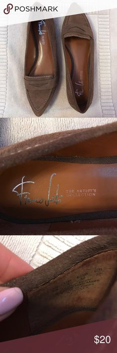Franco Sarto Pointed Toe Flats Brand new, without tags, pointed toe flats.  Suede material. Cute and comfy for the fall weather. The Artist Collection.  Size 8. Franco Sarto Shoes Flats & Loafers