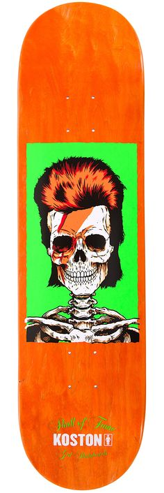 """Koston Skull of Fame 8.25""""... Always really liked this graphic series from Girl Skateboards & now that Bowie is no longer with us I really want to one. SkullyBloodrider."""