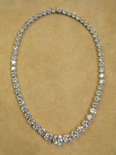 71.31ct Diamond Riviere Necklace Retro