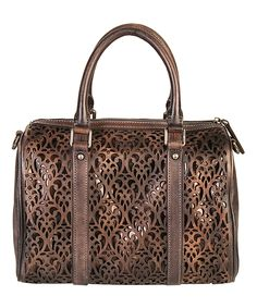 Look what I found on #zulily! Mllecoco Gray Cutout Leather Satchel by Mllecoco #zulilyfinds