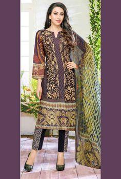 Multicolor Digital Printed Suit - Desi Royale