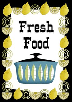 Fresh Food with Lemon Border illustration from THEY.
