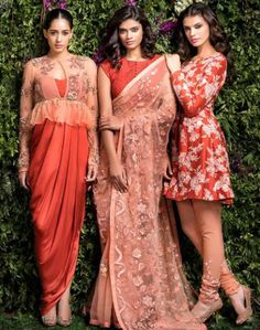 Fusion outfits for reception | Stunning Indian Designer Dresses for a Wedding Reception