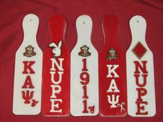 We offer full color Fraternity Paddles & Sorority Paddles in several different styles and sizes. All of our Paddles are original and personal. Kappa Alpha Psi Fraternity, Omega Psi Phi, Zeta Phi Beta, Delta Sigma Theta, Alpha Kappa Alpha, Fraternity Paddles, Sorority Paddles, Greek Paddles, Divine Nine