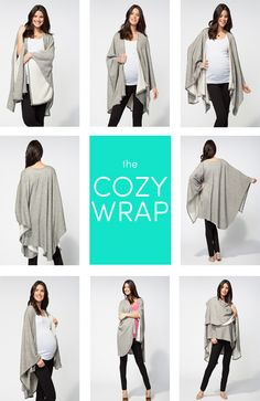 The Cozy Wrap is a chic and lightweight wrap that's sure to become an everyday staple in that maternity wardrobe and long after baby arrives. Easy and versatile from day to night, and the relaxed drape flatters all silhouettes. Found locally at Cribs, Cradles & Things. $88.