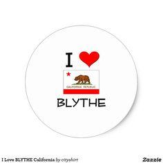 I Love BLYTHE California Classic Round Sticker