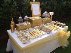DuArt Cakes Mesas dulces Sweet Table Gold