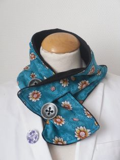 faux col bleu soleil : Echarpe, foulard, cravate par kenzaka