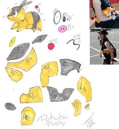i actually made one and as soon as i find the camera ill upload the pictures (on mine the orange part of its body is a little long) i will not get mad i… pokabu plushy Source by drogulka Plushie Patterns, Animal Sewing Patterns, Softie Pattern, Pokemon Craft, Pokemon Plush, Pikachu, Sewing Stuffed Animals, Stuffed Animal Patterns, Geek Crafts