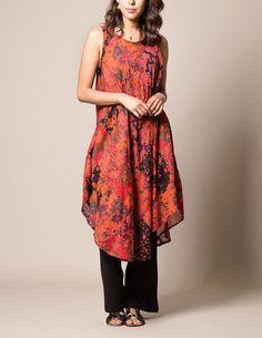 India Patchwork Tunic Dress - Sunset