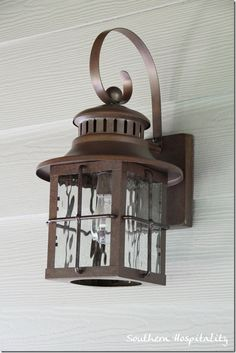 Hampton Bay Mission Style Exterior Wall Lantern With Built