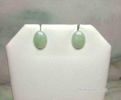 Natural light green color jade earrings, gold jade earrings, ear stud, jade stud, silver jade ear stud, silver jade earrings