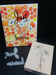 Just Because Poppies Card by Memory Box design team member Shelby Thomas with 2016 exclusive Memory Box dies and stamps from Simple Pleasures Rubber Stamps and Scrapbooking.