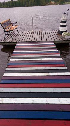 Maalattu matto   Meillä kotona Beach Mat, Outdoor Blanket, Contemporary, Rugs, Garden, Diy, Home Decor, Farmhouse Rugs, Garten