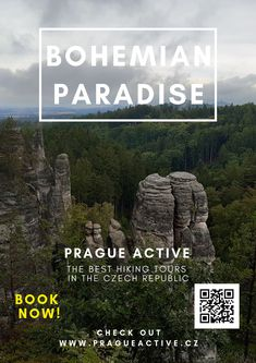 One day trip from Prague to Prachov rock city in Bohemian Paradise UNESCO Geopark Best place to visit in Czech Republic Hiking tour in Czech Republic Day Trips From Prague, 1 Day Trip, Hiking Tours, Travel Activities, Europe Travel Tips, Outdoor Travel, Park, Czech Republic, Cool Places To Visit