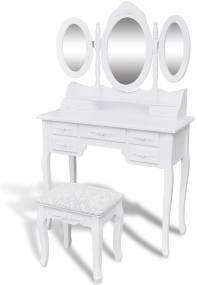 Toaletný stolík so stoličkou a 3 zrkadlami