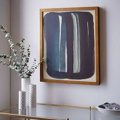 Option for hallway or bathroom - The Arts Capsule Ink Print - Brush Stroke #westelm
