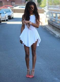 Dress: white white