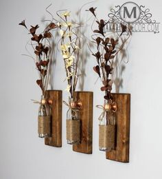 Shop Makarios Rustic Wall Sconces are beautifully hand-crafted from reclaimed wood. Our sconces will showcase a custom style to your home. Diy Home Decor Rustic, Rustic Kitchen Decor, Shabby Chic Kitchen, Rustic Wall Decor, Rustic Walls, Shabby Chic Homes, Shabby Chic Decor, Country Decor, Country Homes