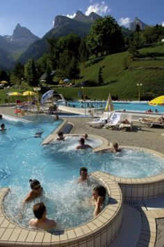 Baths Ovronnaz - A relaxing moment in Canton of Valais ! - Switzerland -