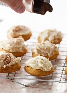 These are basically mini cakes. Melt in your mouth deliciousness. Frosted Pumpkin Cookie | Inspired by Charm