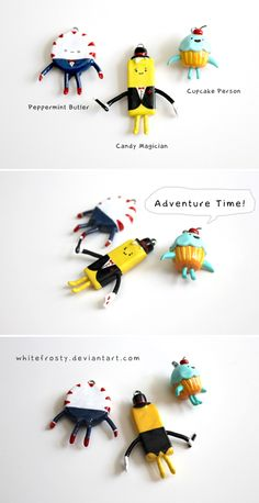 Adventure Time Charms - Candy People by ~whitefrosty (Alice, Canada) : sculpey polymer clay painted with acrylics and varnished with Varathane