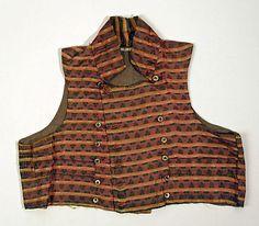 Metropolitan Museum: chaleco de seda de EEUU o Europa de 1800-1810 (Inventario: C.I.39.13.133)