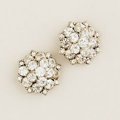 J.Crew Crystal blossom earrings. Love!