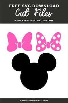 Minnie Mouse Theme Party, Minnie Mouse 1st Birthday, Minnie Mouse Bow, Mickey Head, Mickey Mouse Template, Cricut Baby Shower, Minnie Mouse Silhouette, Cricut Birthday Cards, Minnie Mouse Pictures