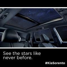 See the stars like never before with the Kia Sorento.