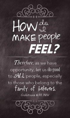 How do I make people feel?