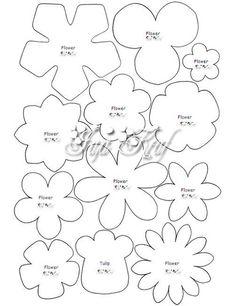 Moldes de flores em feltro para imprimir  - Como Fazer
