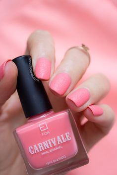 Pink textured nails - face of australia bird of paradise. click for more #pink #nails