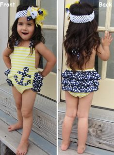Anchor Ruffle Bubble Romper #clearance #daily-deal #new