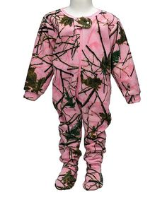 Love this Pink Camo Comfy Crawler - Infant, Toddler & Girls on #zulily! #zulilyfinds