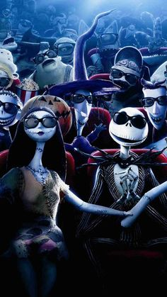 2014 Halloween Glass Jack Skellington Sally iPhone 6 Wallpaper - Nightmare Before Christmas, Monster