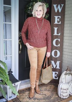 Mature Women Fashion, Womens Fashion, Fashion Pics, Fashion Outfits, 50 Is Not Old, Action Verbs, Caramel Color, Style Challenge